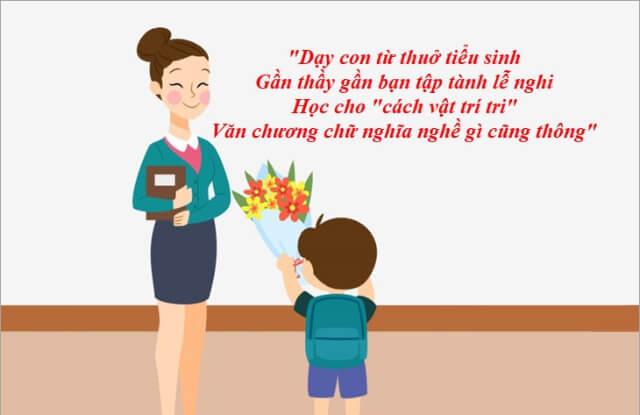 ca dao tục ngữ về lòng biết ơn thầy cô