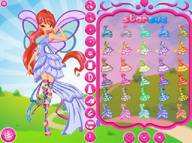 trang điểm cho công chúa phép thuật winx